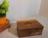 Mid-Century Moneysafe Moneybox Safebox with key.