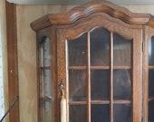 VTG Rare Oak Wall Display Case