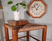 Vintage Bar Stool with Wicker, Piping Session Charlotte Perriand Style