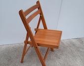 Mid-Century Folding Chair Wood vintage