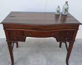 Theodore Alexander Campaign-desk with croco leather  vintage