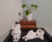 Set of 2 Porcelain Pierrot figurines vintage