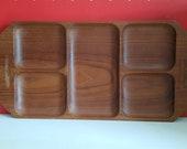 Serving dish teak wood vintage Redens design