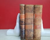 Vintage Bookends Ceramic Hands White