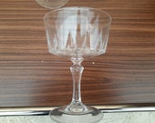 6 crystal wine glasses from the 80's