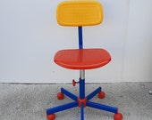 vintage children's office chair in Memphis style