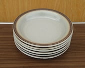 6 st. vintage retro plates Gerzit Staffel stoneware keramik