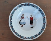 Vintage Norwegian Figgjo Flint, dish, Hardanger Dancers, from the fifties