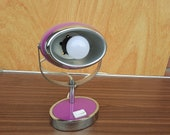 Vintage space age desk lamp purple ,60s