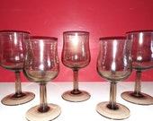 5 st. Rookglas Arcopal glasses