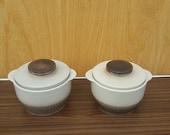 Set of vintage deck-bowls / oven-bowls GERZIT STAFFEL keramik