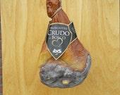 Vintage decorative Crudo ham, kitchen/shop decoration