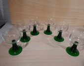 6 St. Roemer Crystal Wine Glasses vintage