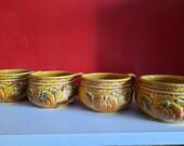 4 st. VTG Royal Sealy design soup bowls made in Japan