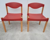 2 st. Casala Strax chairs red vintage