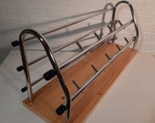 Old fashion Coat Rack, mid-Century with a new wooden back-side