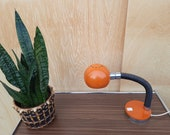 Vintage desk lamp from the 60s orange
