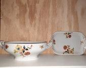 Set antique bowls from the 1920s, porcelain