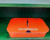 Vintage Brabantia polishbox orange