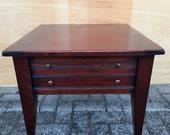 Antique style endtable, corner table, sidetable cherry wood vintage