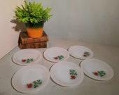 Set of 6 Arcopal Rose Breakfast Plates 19 cm