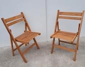 Mid-Century Folding Chairs '60