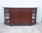 Rare Cherry Wood dresser with display cases, Rimini, Novio Forum