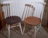 Set of 2 Danisch Chairs Vintage