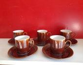Espresso cups brown retro