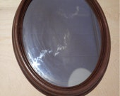 Large oval mirror art or wood structure vintage