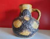 Mid-century Bay ceramics vase West Germany Fat Lava Scheurich