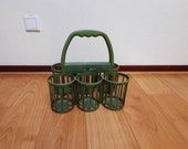 Vintage bottle carrier, Magazine rack from the sixties