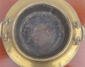 Antique chestnut pan puffpan brass copper 44 cm