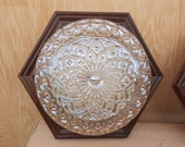Vintage flower plafonniere with wood retro