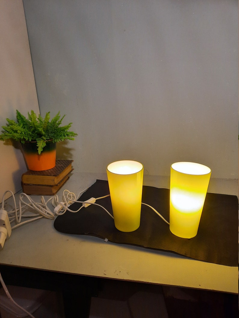 Vintage Ikea Table Lamps Gavik Green without hood. image 0