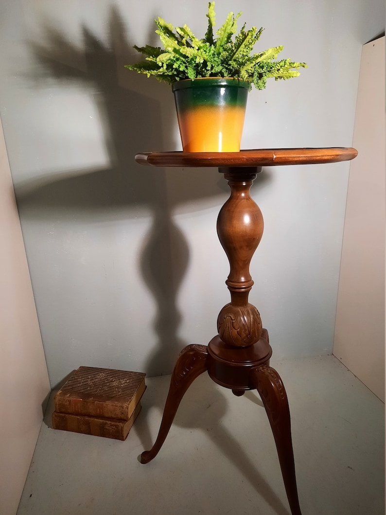 Very rare Plant table corner table wine table walnut image 0