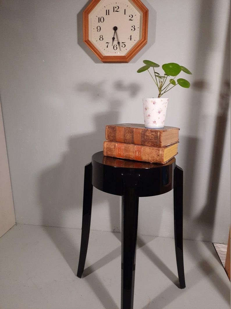 Vintage black Kartell Charles Ghost stool image 0
