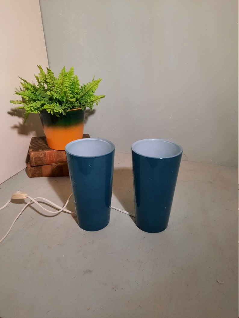 Set of 2 Ikea Gavik Hooded Table Lamps in vintage condition image 0