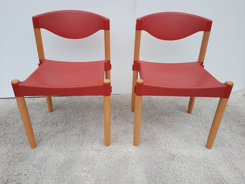2 st. Casala Strax chairs red vintage image 0