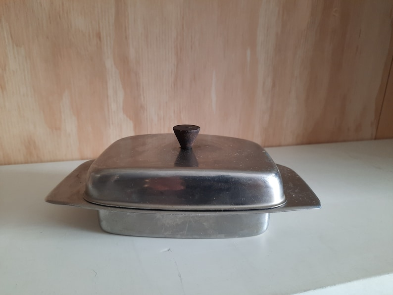 Vintage stainless steel butter fleet from the 1960s image 0