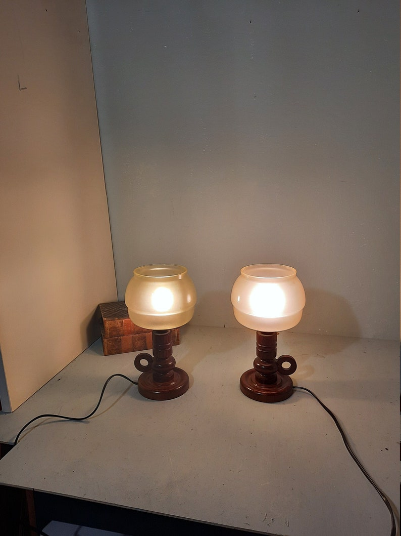 Mid-Century set of 2 Danisch Design Bedside-Lamps '50 image 0