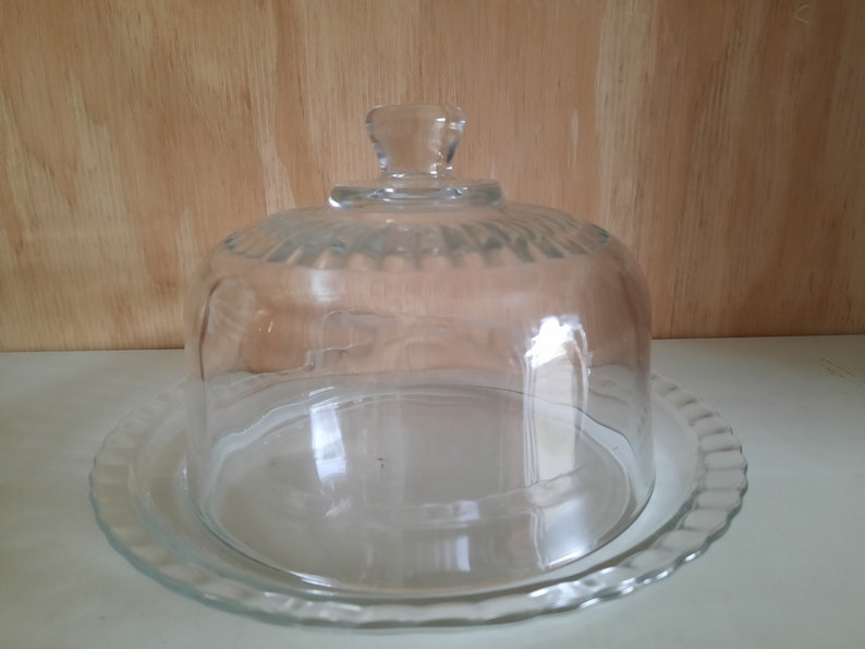 FAR CHEESE CLOCHE vintage cheese dish Art Deco image 0