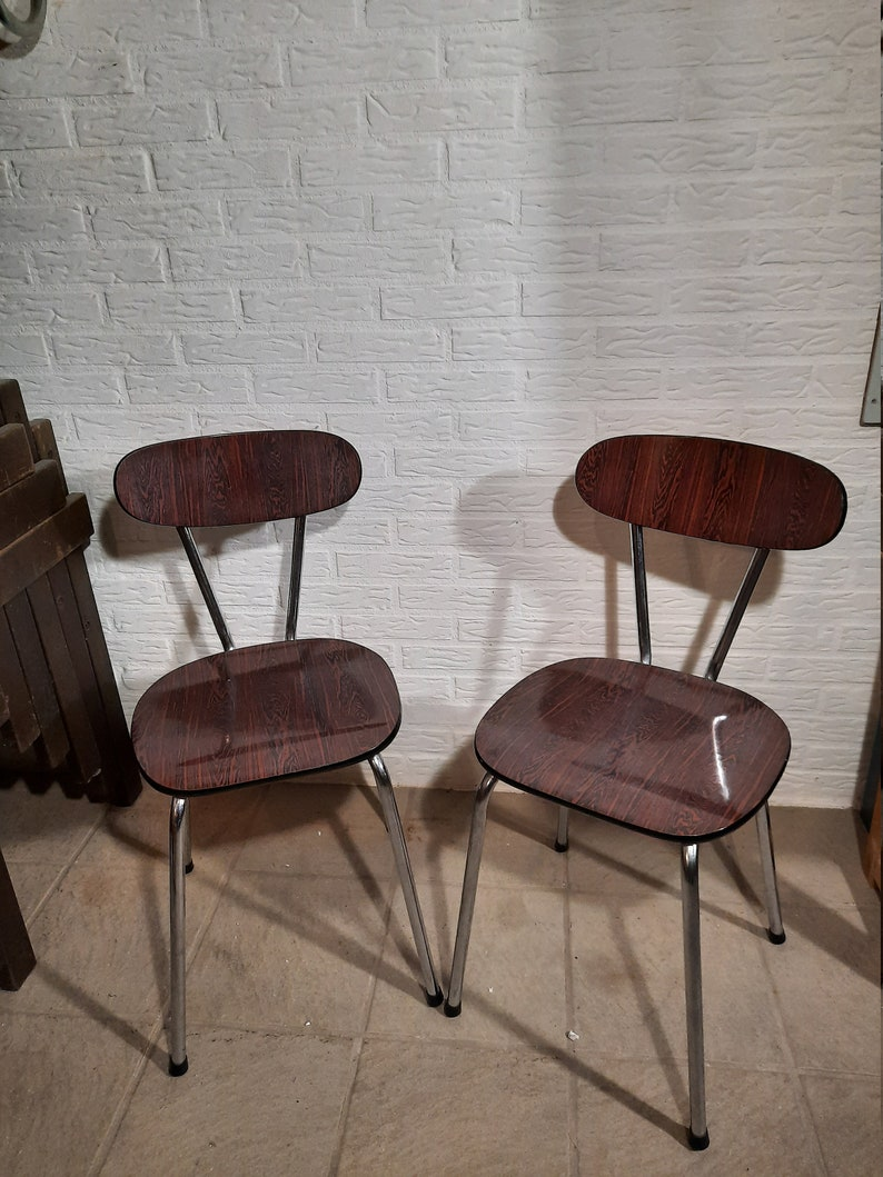 Mid-Century Formica Chairs. image 0