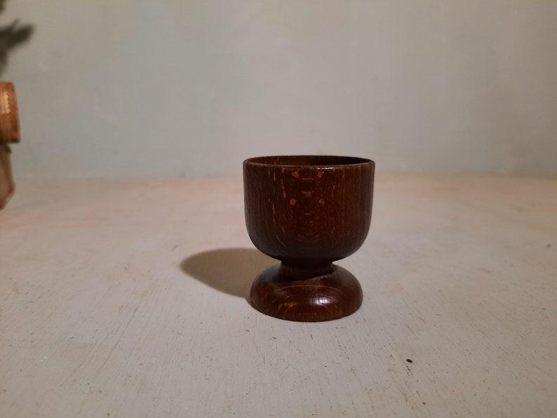 Set of 6 Teak Egg Cups Egg Cups Danisch Design Vintage image 0