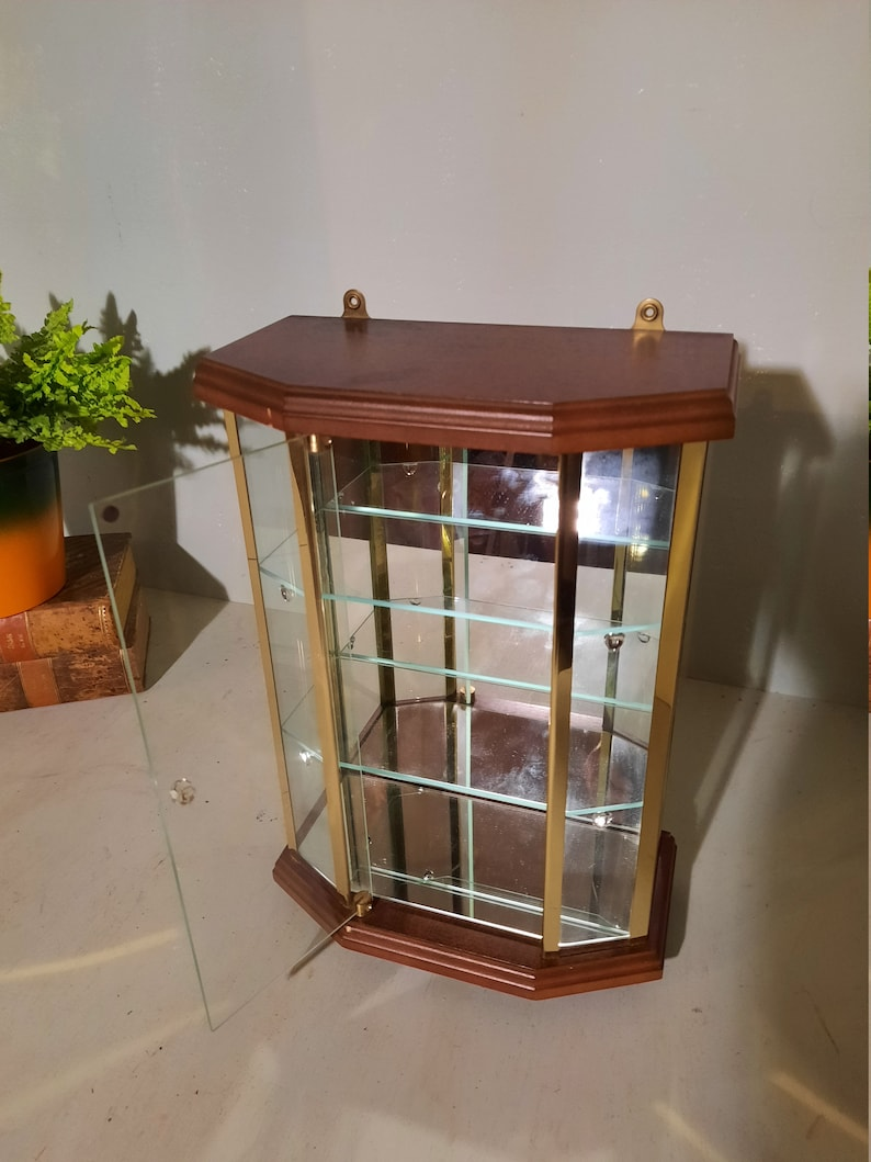 Vintage Display Cabinet with Mirrors image 0
