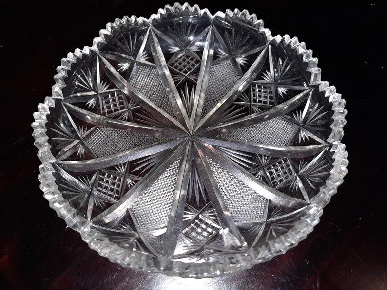 Crystal chocolate dish 16 cm  vintage image 0
