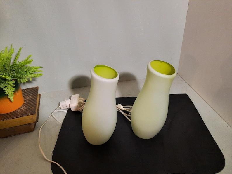 Set Vintage Lime Ikea Mylonit lamps '80 image 0