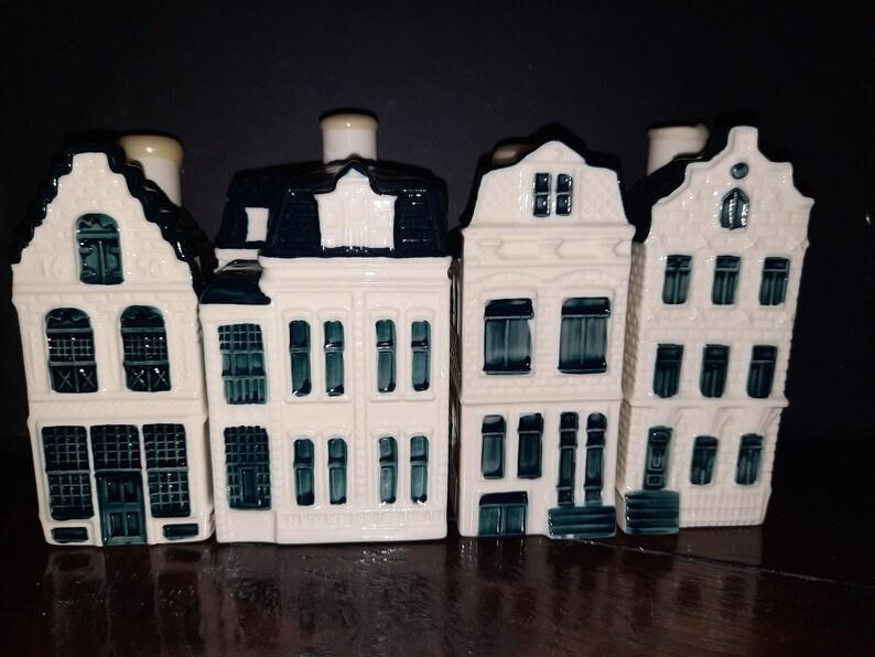 KLM Miniature cottages no. 15 45 71 and 91 Delft blue image 0