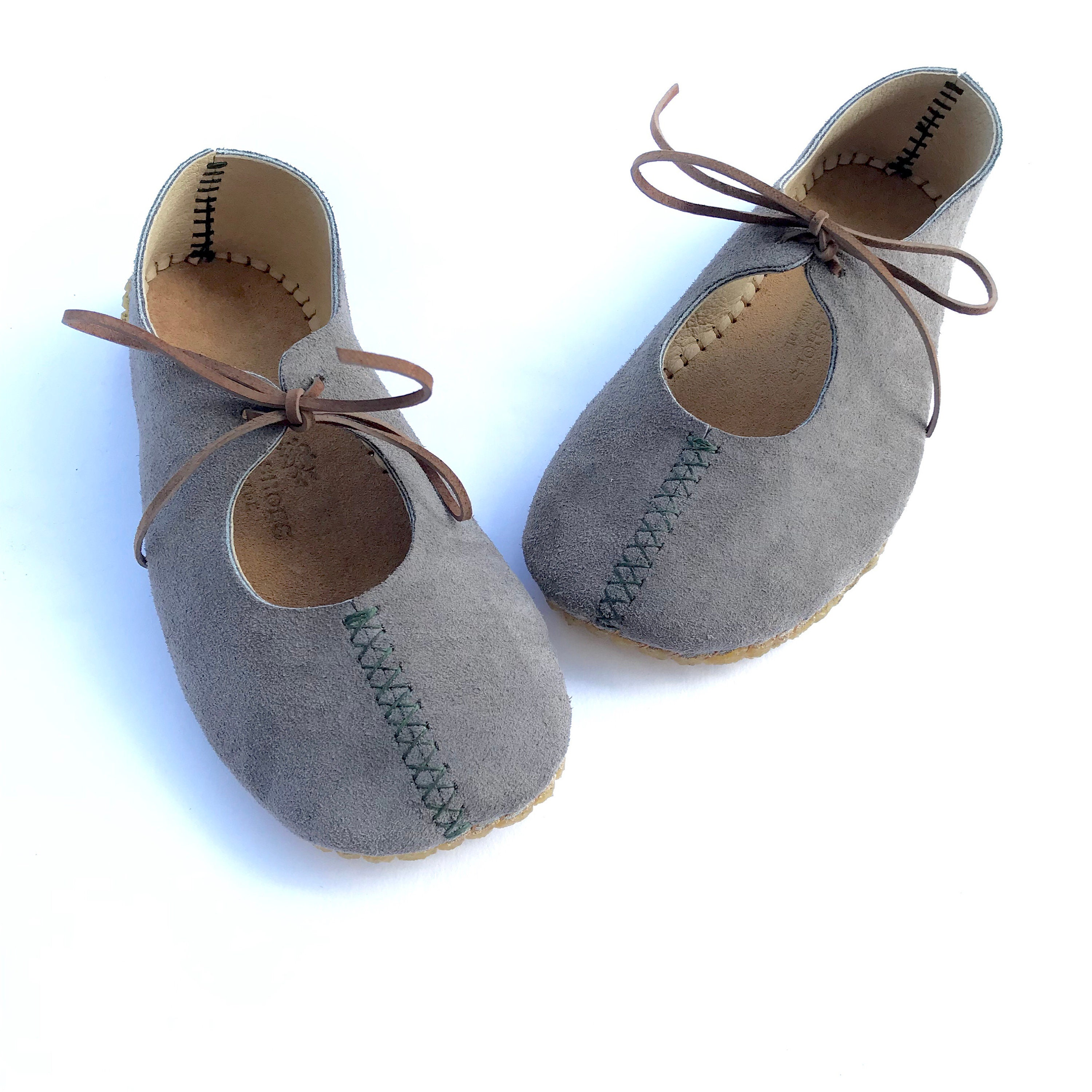 d2fcd0e6ea1 Rose Ghillies ~ indoor outdoor barefoot shoes with X-stitches by Farm Shoes  Handmade