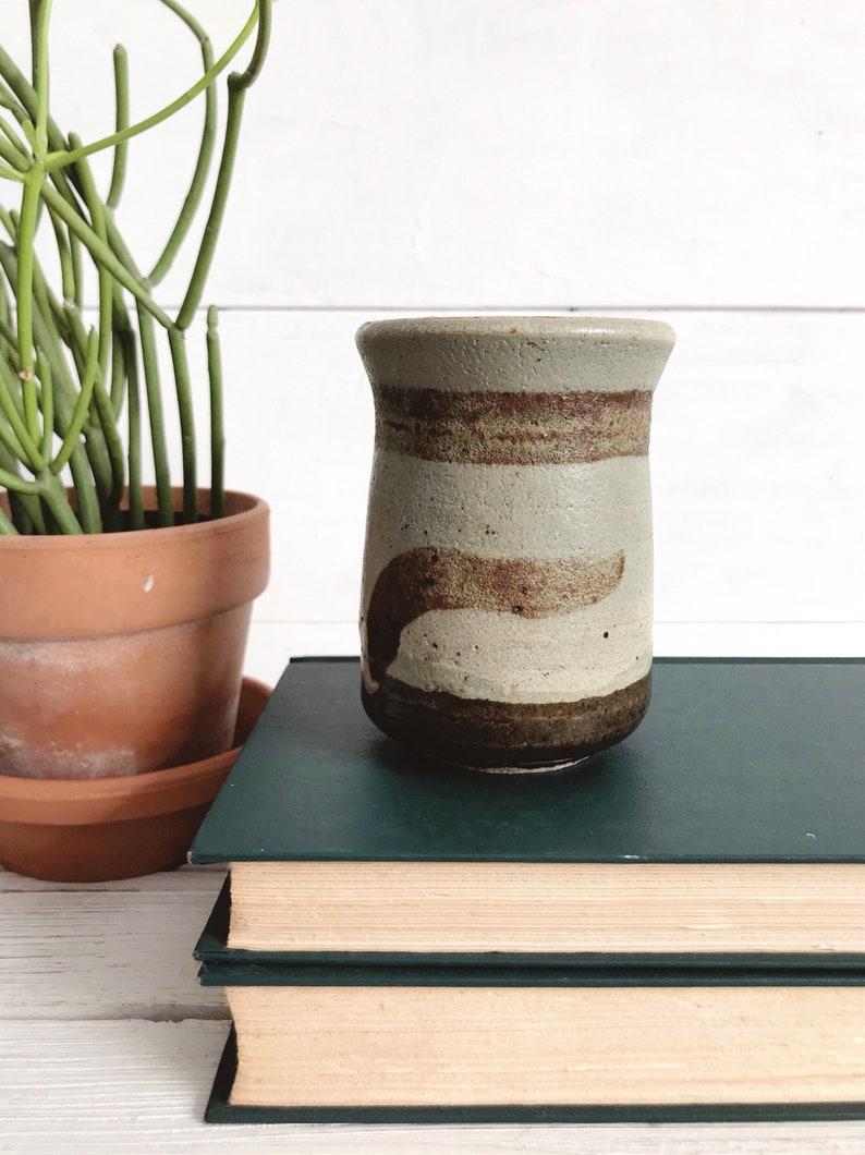 Vintage boho pottery  vintage southwest pottery  studio pottery  midcentury signed pottery